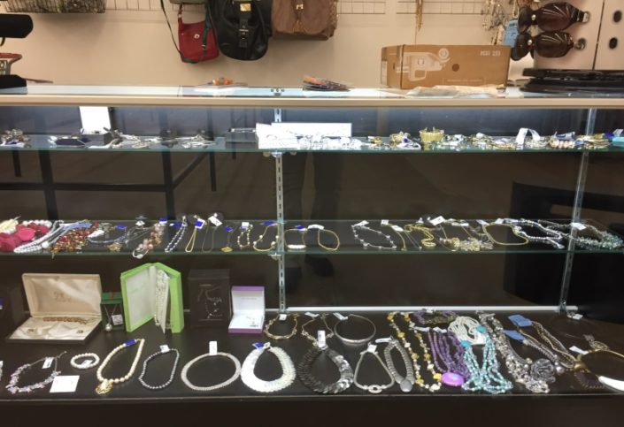 jewelry for sale in thrift store in dc
