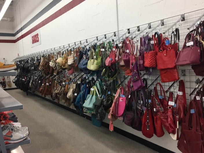 handbags and purses for sale in thrift store in dc