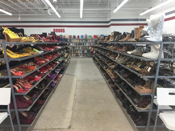 shoes for sale in thrift store in dc