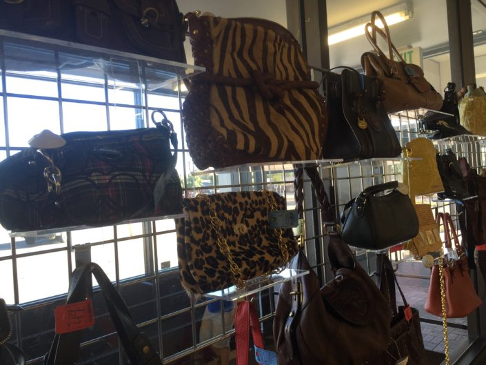 handbags for sale at thrift store in denver