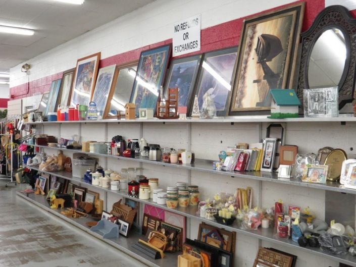 picture frames and decor at denver thrift store