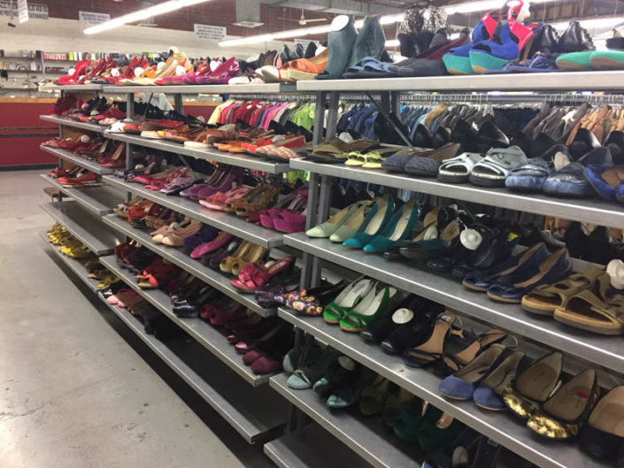 designer shoes at thrift store in covina