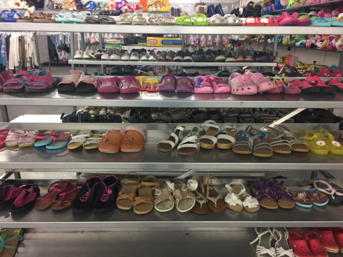 childrens shoes at thrift store in covina