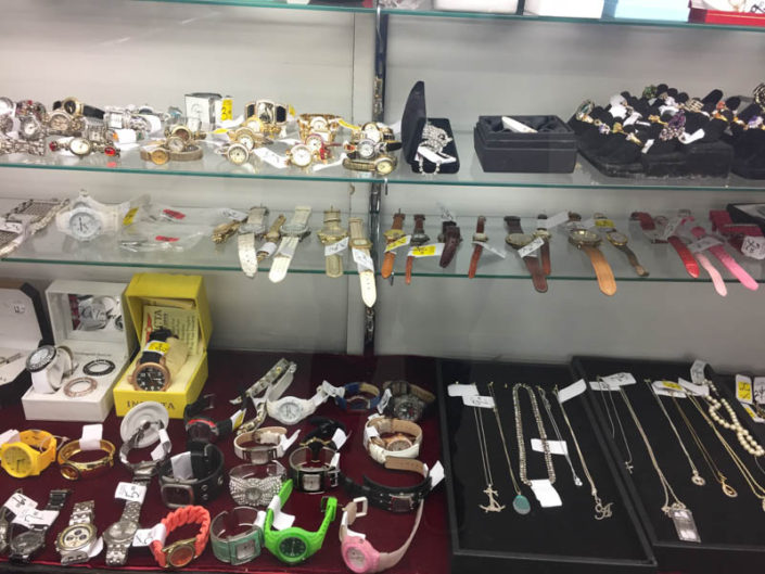 watches and jewelry at thrift store in covina