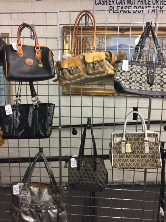 designer purses at thrift store in covina