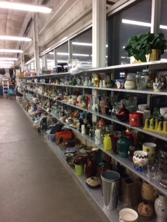 house ware and kitchen items at portland area thrift store