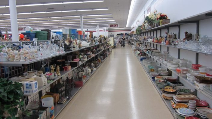 home goods for sale at thrift store in waterbury
