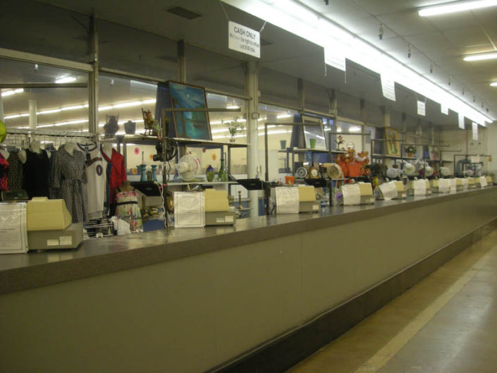 cash registers at thrift store in hialeah