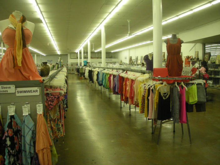 clothing for sale at thrift store in hialeah