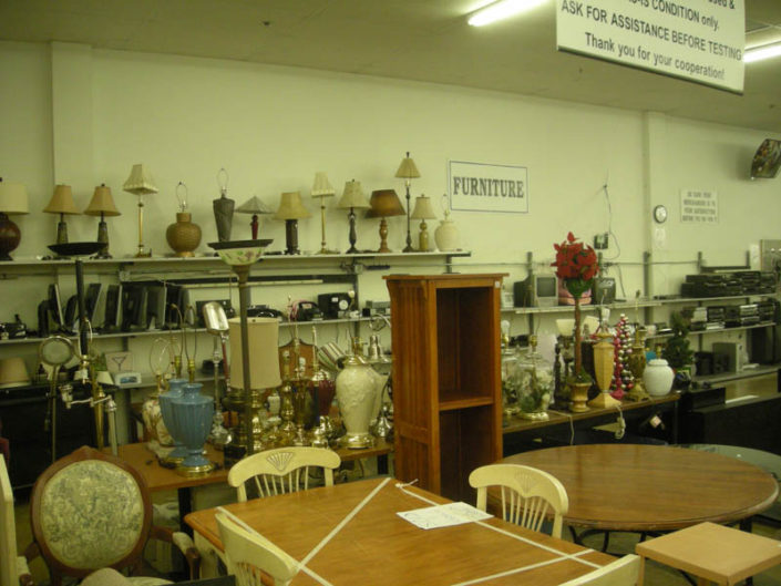 furniture and decor at thrift store in hialeah