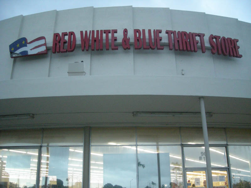 Storefront Of Thrift Store In Hialeah