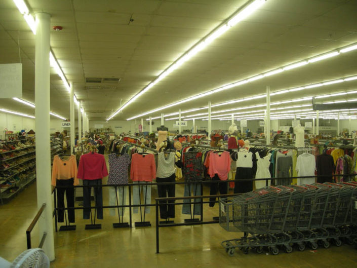 ladies, men's and children's clothing for sale at thrift store in hialeah