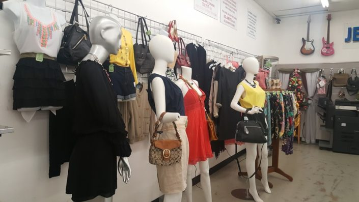 fashion on display at thrift store in lake worth