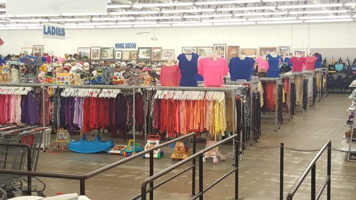 clothing for sale at thrift store in lake worth