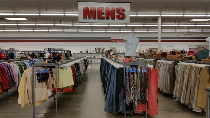 men's shorts, pants and ties at Jacksonville thrift store