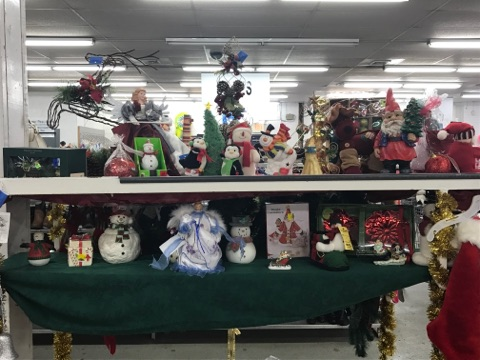 holiday decor for sale at pittsburgh thrift store