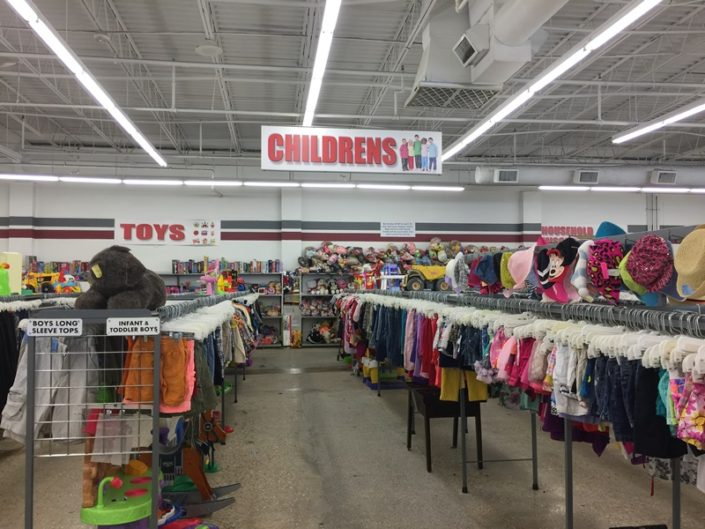 children's clothing for sale at new orleans thrift store