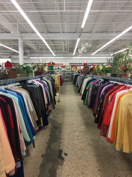 clothing for sale at new orleans thrift store