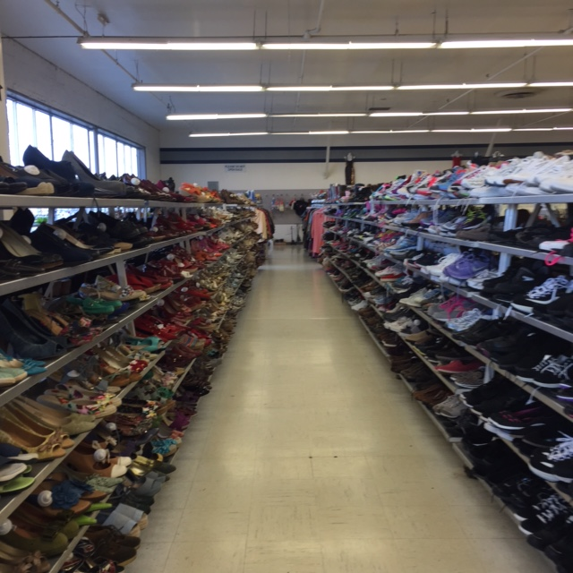 shoes for sale at thrift store in trenton