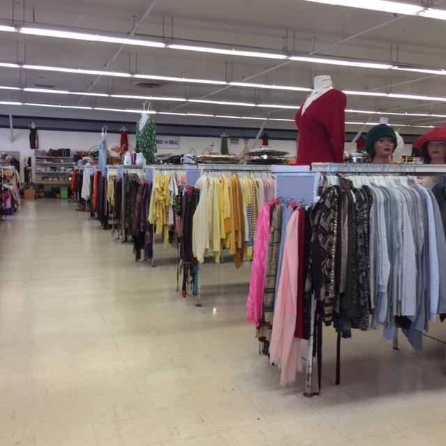 clothing for sale in thrift store in trenton